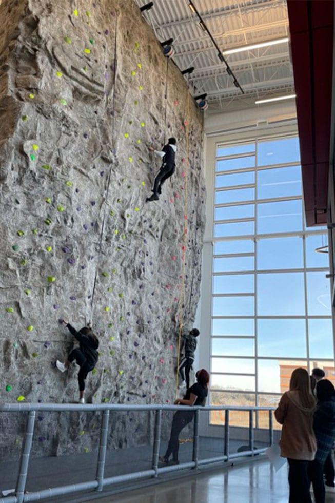 indoor rock climbing wall the fitness equation one loudoun gym ashburn va